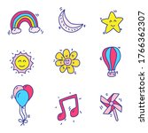 star and miscellaneous things...   Shutterstock .eps vector #1766362307