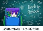 schoolbag  back to school... | Shutterstock .eps vector #1766374931