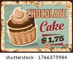 chocolate cake dessert metal...   Shutterstock .eps vector #1766375984
