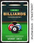 billiard pool tournament retro... | Shutterstock .eps vector #1766376047