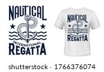 anchor  rope and waves shirt...   Shutterstock .eps vector #1766376074