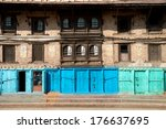 This image shows the Architecture of Patan, Kathmandu, Nepal - stock photo