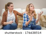 furious young mother in a... | Shutterstock . vector #176638514