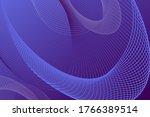 neon glowing techno lines  blue ... | Shutterstock .eps vector #1766389514