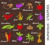vector illustration of... | Shutterstock .eps vector #176639201
