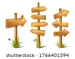 vector cartoon wooden rustic... | Shutterstock .eps vector #1766401394