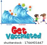 get vaccinated with second wave ... | Shutterstock .eps vector #1766401667