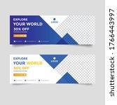 creative travel banner ad... | Shutterstock .eps vector #1766443997