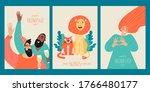 set of vector templates for... | Shutterstock .eps vector #1766480177
