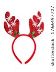 Red christmas headband isolated ...