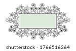 beautiful flowers frame design...   Shutterstock .eps vector #1766516264