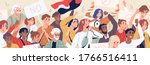 crowd of diverse people on... | Shutterstock .eps vector #1766516411