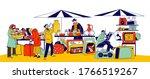 characters visiting flea market ... | Shutterstock .eps vector #1766519267