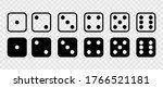 Dice Set Vector Icon. Game Dice....