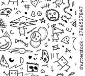 vector seamless doodle pattern. ... | Shutterstock .eps vector #1766527847