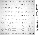 arrows and lines hand drawn set ... | Shutterstock .eps vector #176653739