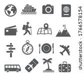 travel and tourism icon set on... | Shutterstock .eps vector #1766578154
