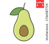 avocado color line icon  food...   Shutterstock .eps vector #1766587724