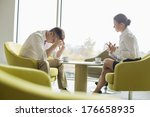 businesspeople in serious... | Shutterstock . vector #176658935