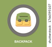 schoolbag falt icon  rucksack... | Shutterstock .eps vector #1766595107