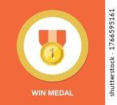 winner ribbon flat icon. award... | Shutterstock .eps vector #1766595161