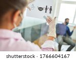 notice of hygiene rules in the... | Shutterstock . vector #1766604167