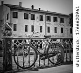Bicycle  By Canal In Treviso ...