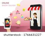 online food delivery concept....   Shutterstock .eps vector #1766631227