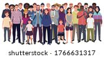 multinational group of people... | Shutterstock .eps vector #1766631317