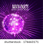 background with disco ball... | Shutterstock .eps vector #176663171