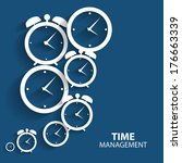 modern flat time management... | Shutterstock .eps vector #176663339