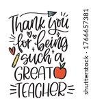 elementary school teacher... | Shutterstock .eps vector #1766657381