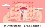 raining hearts and love emotion ... | Shutterstock .eps vector #1766658854