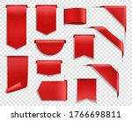 red ribbons  labes and tags ...   Shutterstock .eps vector #1766698811