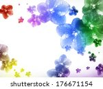 flowers on a white background... | Shutterstock . vector #176671154