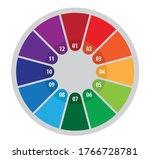 colorful twelve step process...   Shutterstock .eps vector #1766728781