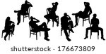 vector silhouettes of men and... | Shutterstock .eps vector #176673809