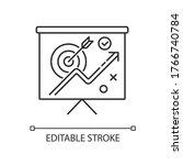 marketing strategy pixel... | Shutterstock .eps vector #1766740784