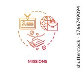 diplomatic mission concept icon.... | Shutterstock .eps vector #1766749094
