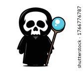 cute little skeleton mascot... | Shutterstock .eps vector #1766776787
