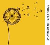 flowers design over yellow... | Shutterstock .eps vector #176678837