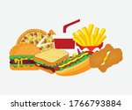 fast food illustration  with...   Shutterstock .eps vector #1766793884