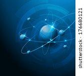 molecules abstract illustration ... | Shutterstock . vector #176680121