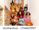Halloween Group Kids Portrait...