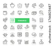 thin line web icon set   money  ... | Shutterstock .eps vector #1766825687