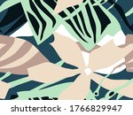 abstract floral collage... | Shutterstock .eps vector #1766829947