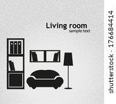 living room background vector... | Shutterstock .eps vector #176684414