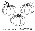 set of pumpkins. collection of... | Shutterstock .eps vector #1766870534