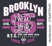 brooklyn t shirt graphics. new... | Shutterstock .eps vector #1766879144