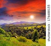mountain summer landscape. pine ... | Shutterstock . vector #176688155